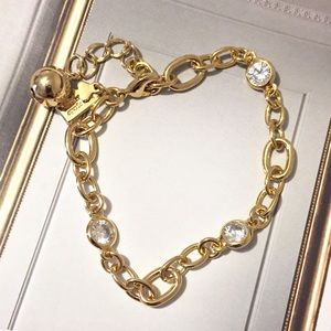 Kate Spade Crystals & Links Charm Bracelet